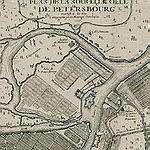 карта санкт-петербурга 1717 год