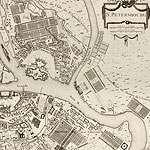 карта санкт-петербурга 1753 год