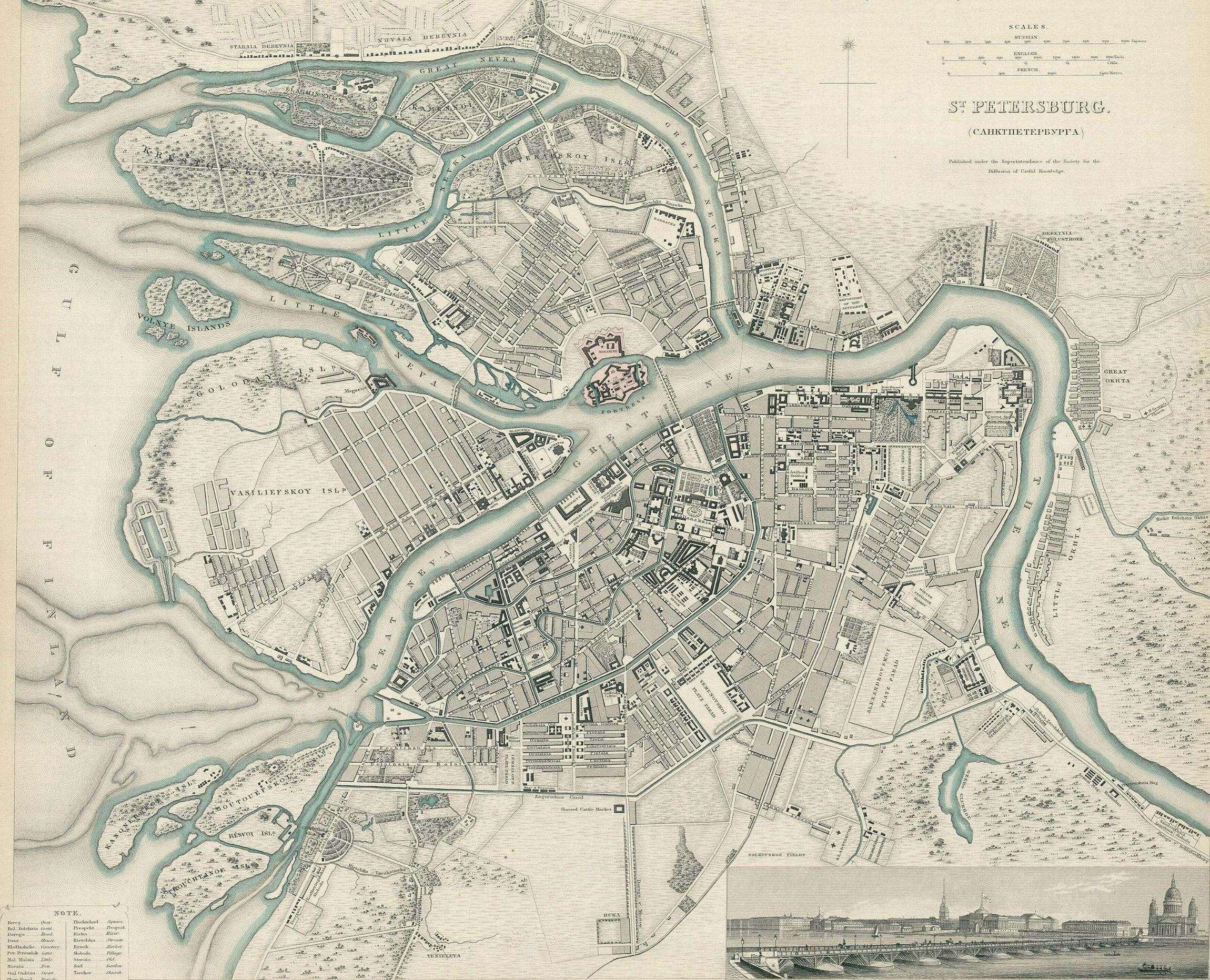 Карта составлена Обществом распространения полезных знаний, основанным в...